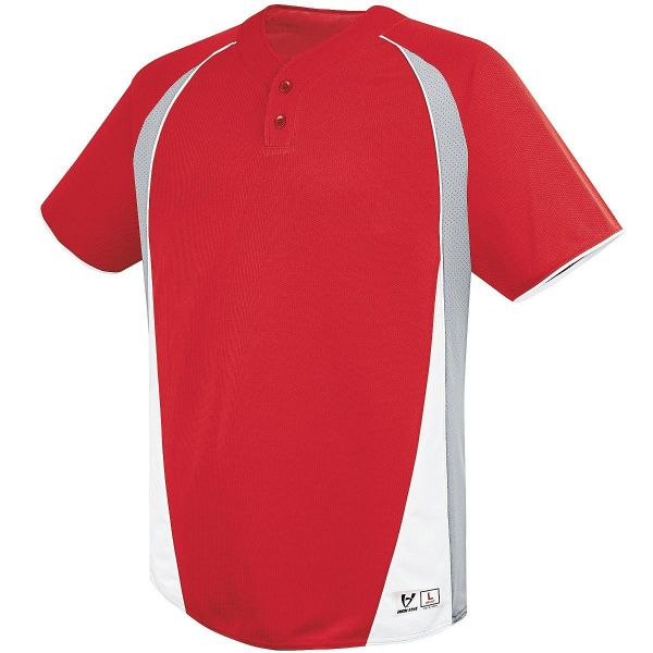 High Five Youth Ace Two-Button Baseball Jersey