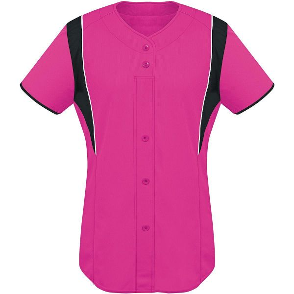 High Five Women's Faux Front Softball Jersey