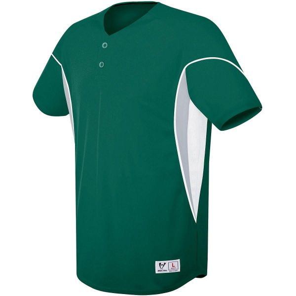 High Five Ellipse Two-Button Youth Baseball Jersey